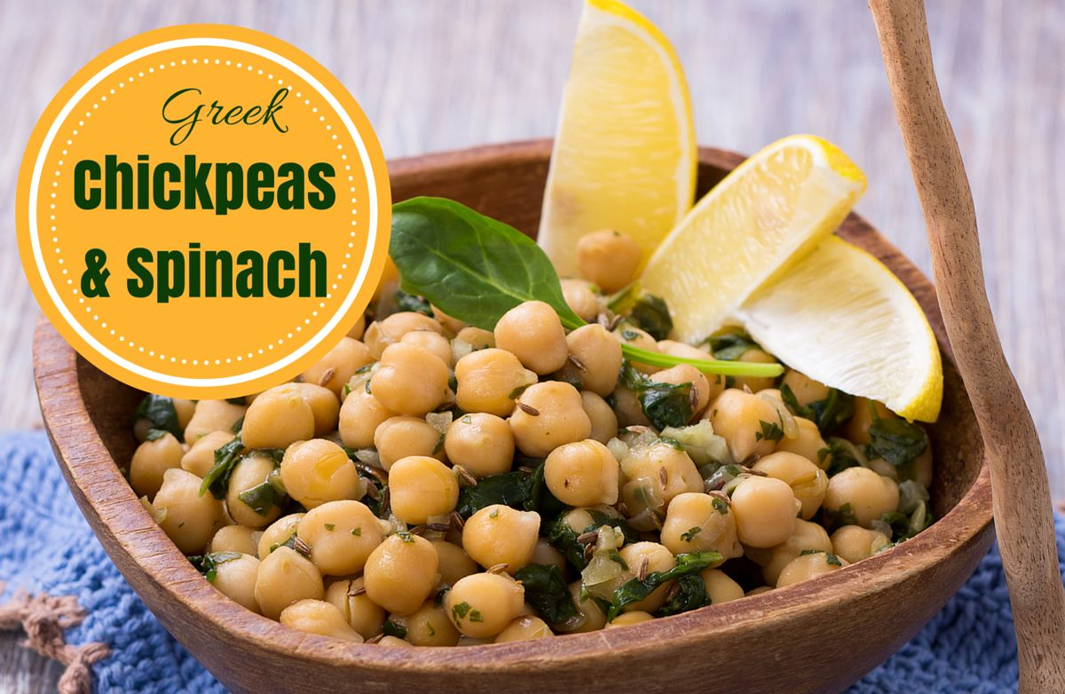 Greek Chickpeas and Spinach RECIPE