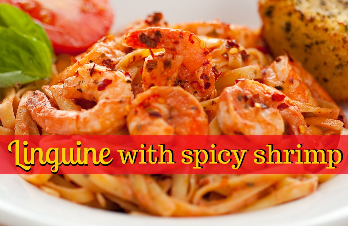 ... breakdown of Linguine with Spicy Shrimp calories by ingredient