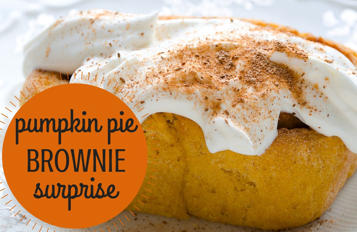 Mamms' Pumpkin Pie Brownie Surprise