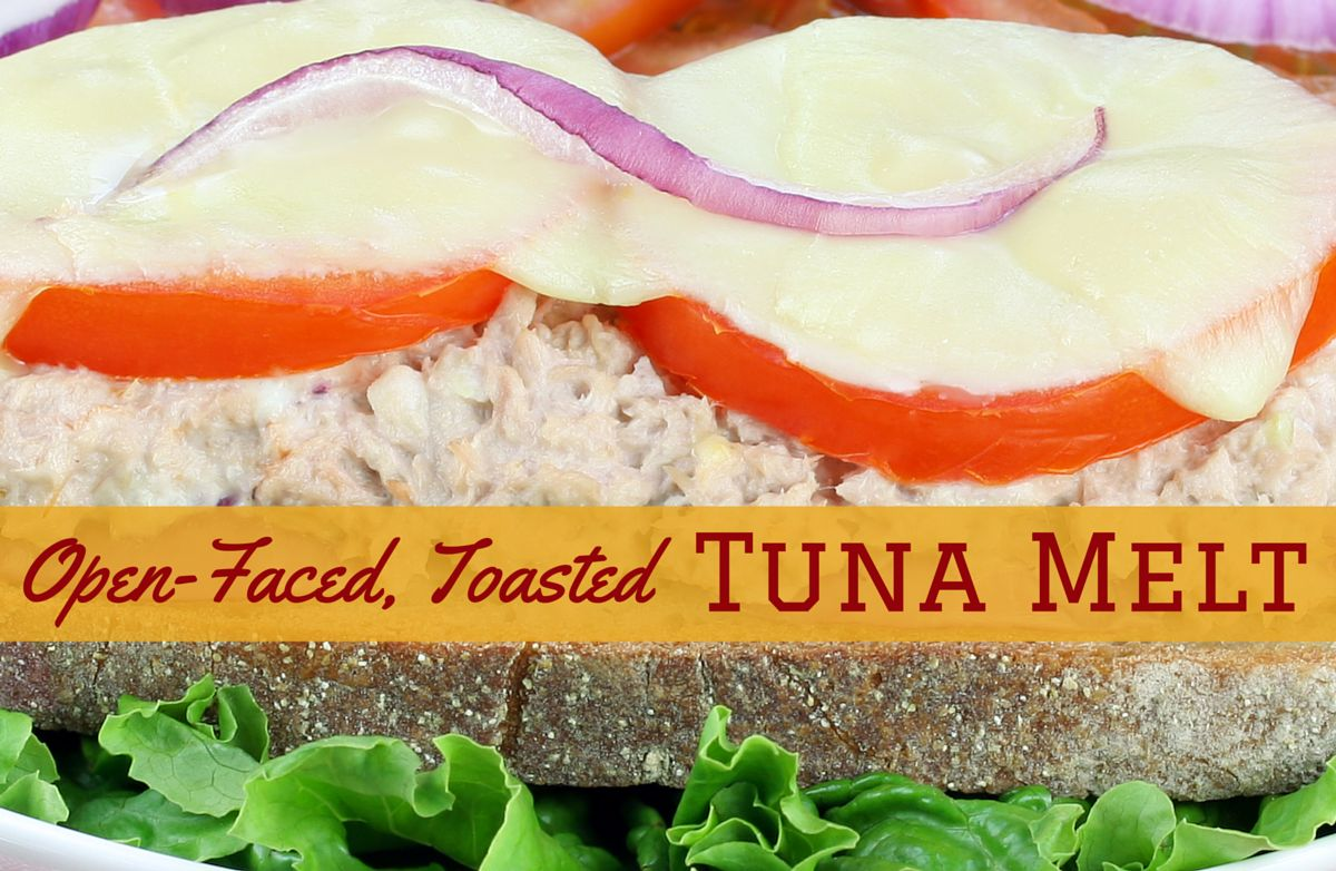 Opened Face Toasted Tuna Melts