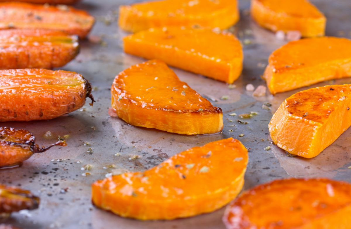 Oven Roasted Yams & Butternut Squash
