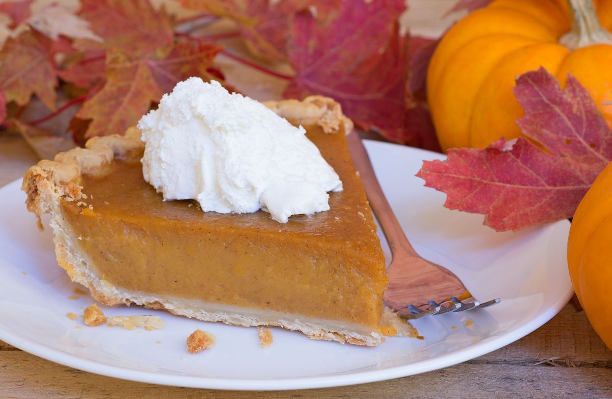Pumpkin Pie with Crunchy Pumpkin Seed Crust