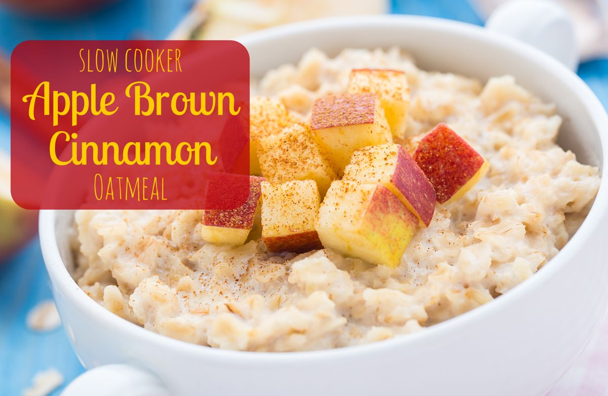 Slow Cooker Apple Brown Cinnamon Oatmeal