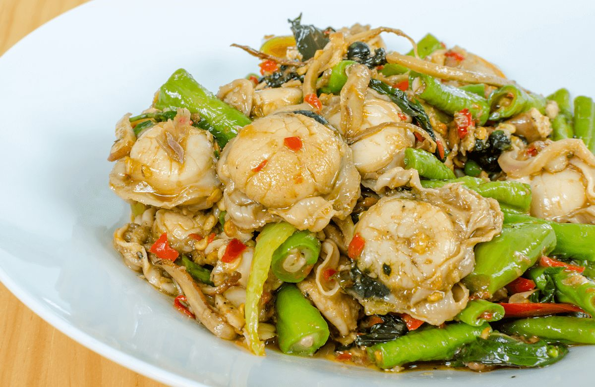 Scallops Cook In Wok Recipes Sparkrecipes