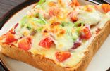 Vegetarian Pizza Toast