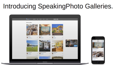 Introducing speakingphoto galleries. big