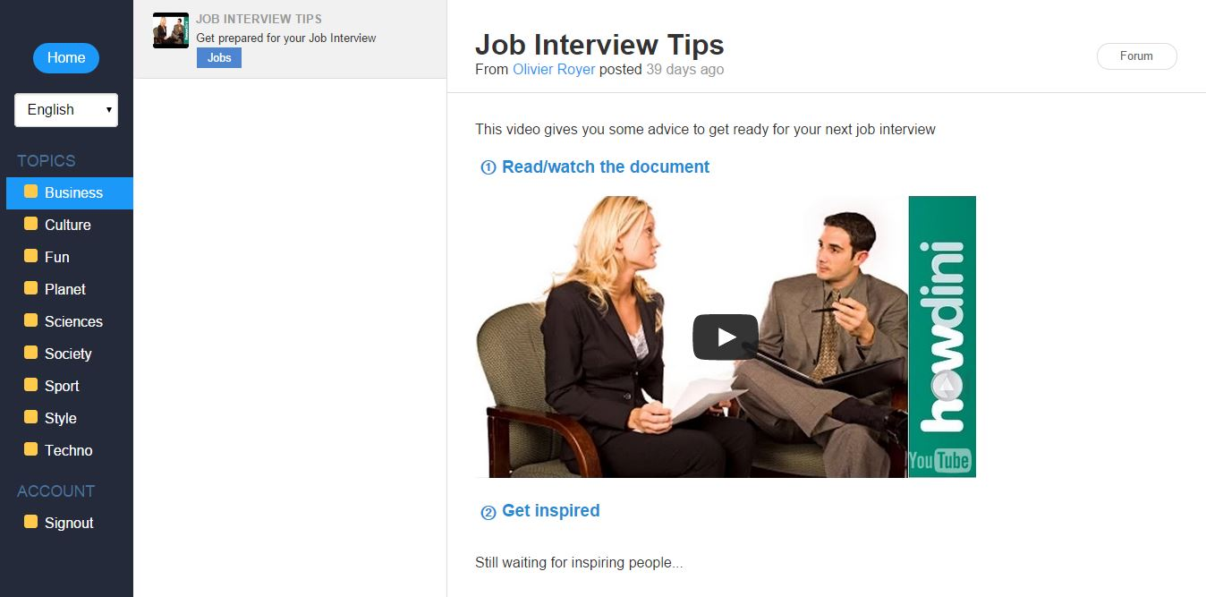 Speaklikethem job interviews in english