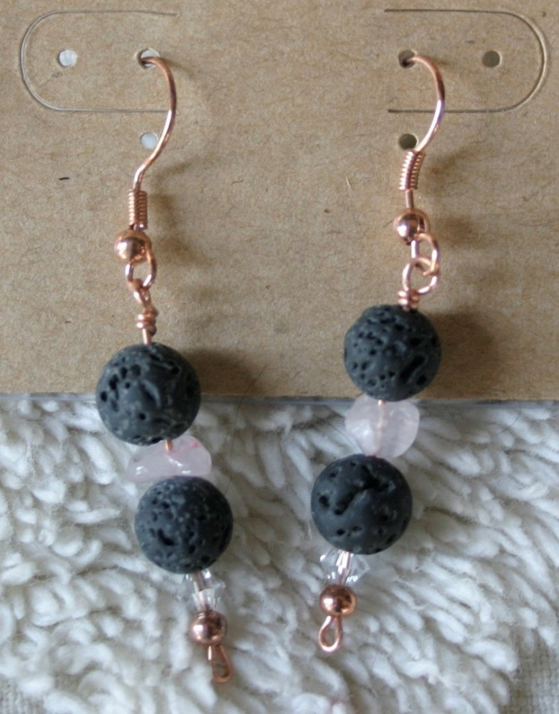 Essential Oil Earrings/blush Pink