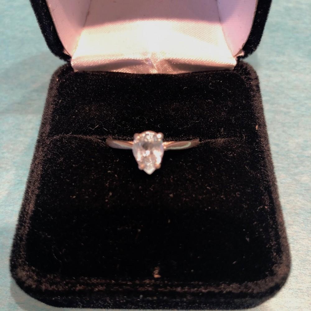 Aquamarine Teardrop Ring