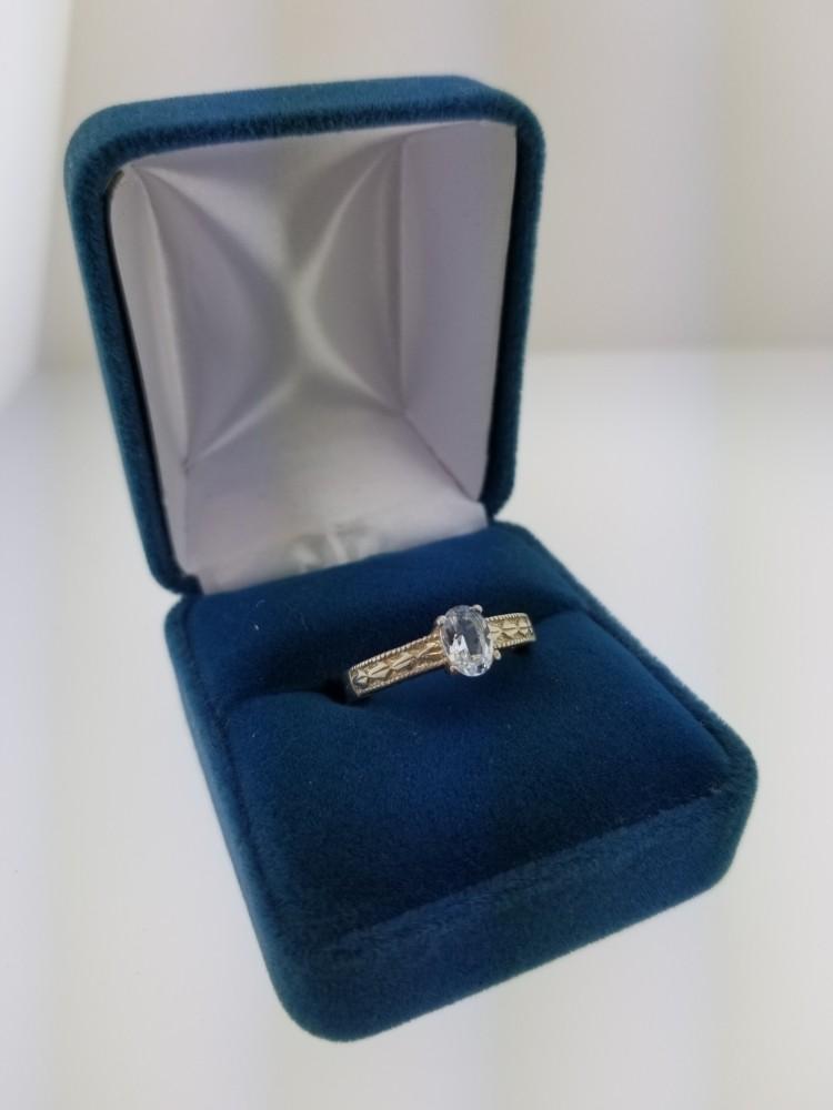 Aquamarine Ring, Oval Shape