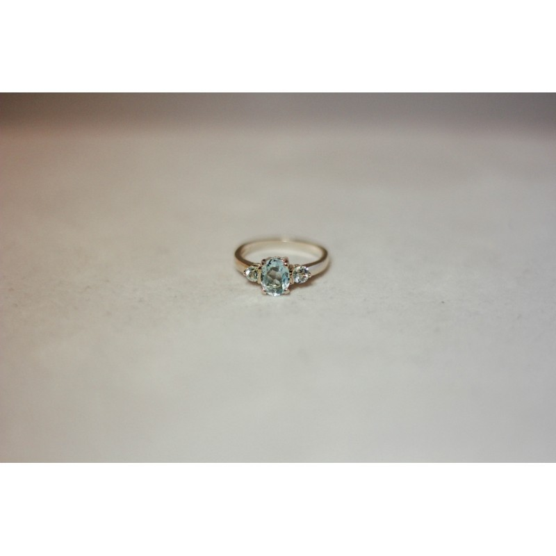 Aquamarine Ring with Accent Stones