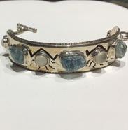 AJTA Cardwell Aquamarine W/ Cats Eye Moonstone Bracelet