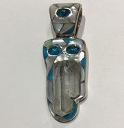 AJTA Cardwell Aqua W/ Neon Apatite & Mother Of Pearl Pendant