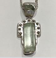 AJTA Cardwell Aqua W/ Pearl Pendant