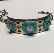 AJTA Cardwell Aqua W/ Turquoise & Labradorite Accents Bracelet