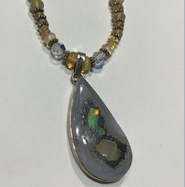 AJTA Raw Opal w/ Opal Beads Pendant