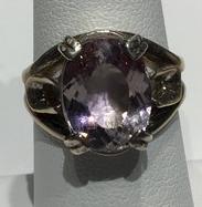AJTA Lavender Amethyst Ring Size 6 1/2