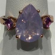 AJTA Lavender Quartz Ring Size 8