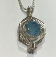 Aqua Wrapped Pendant