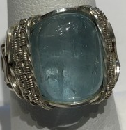 Cardwell Aqua Wrap, Sterling Silver 8.95 Cts. (Size 7)