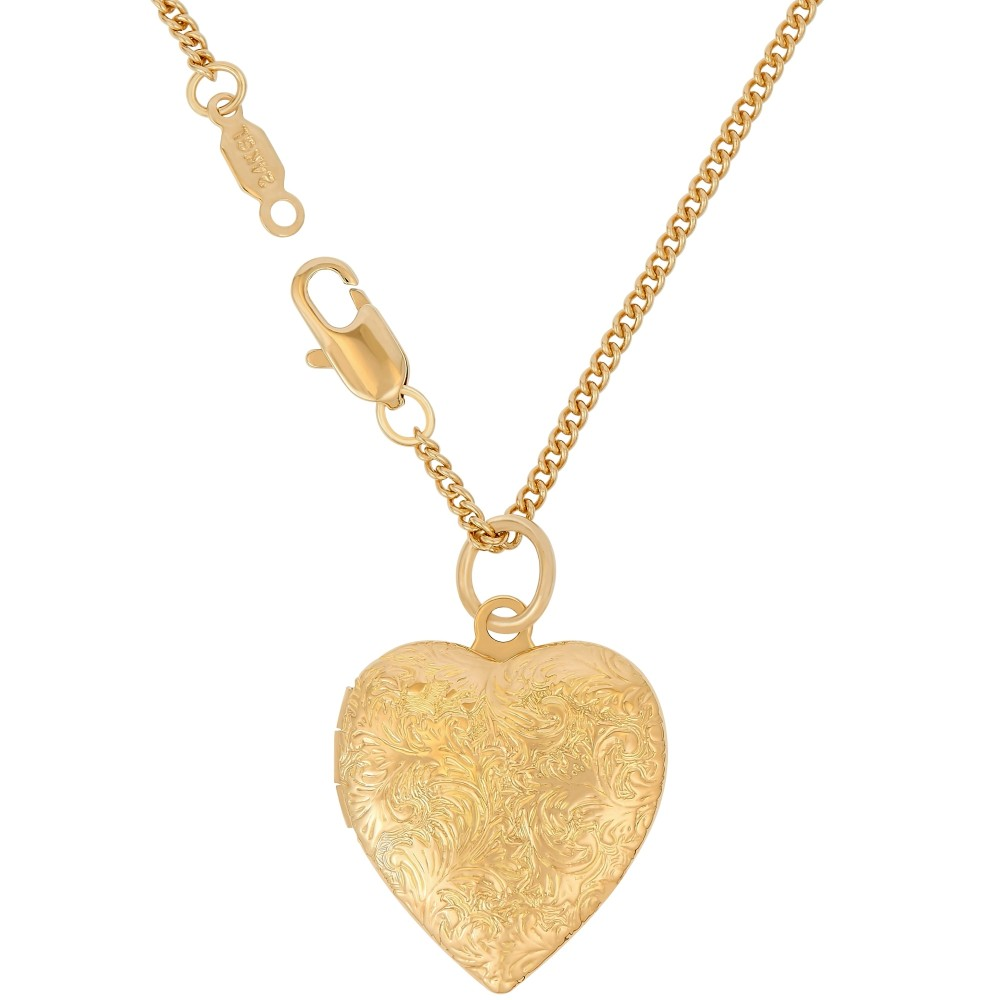 Gold heart locket necklace nu 9qa6 c0tc heart pendants gold aloadofball Choice Image
