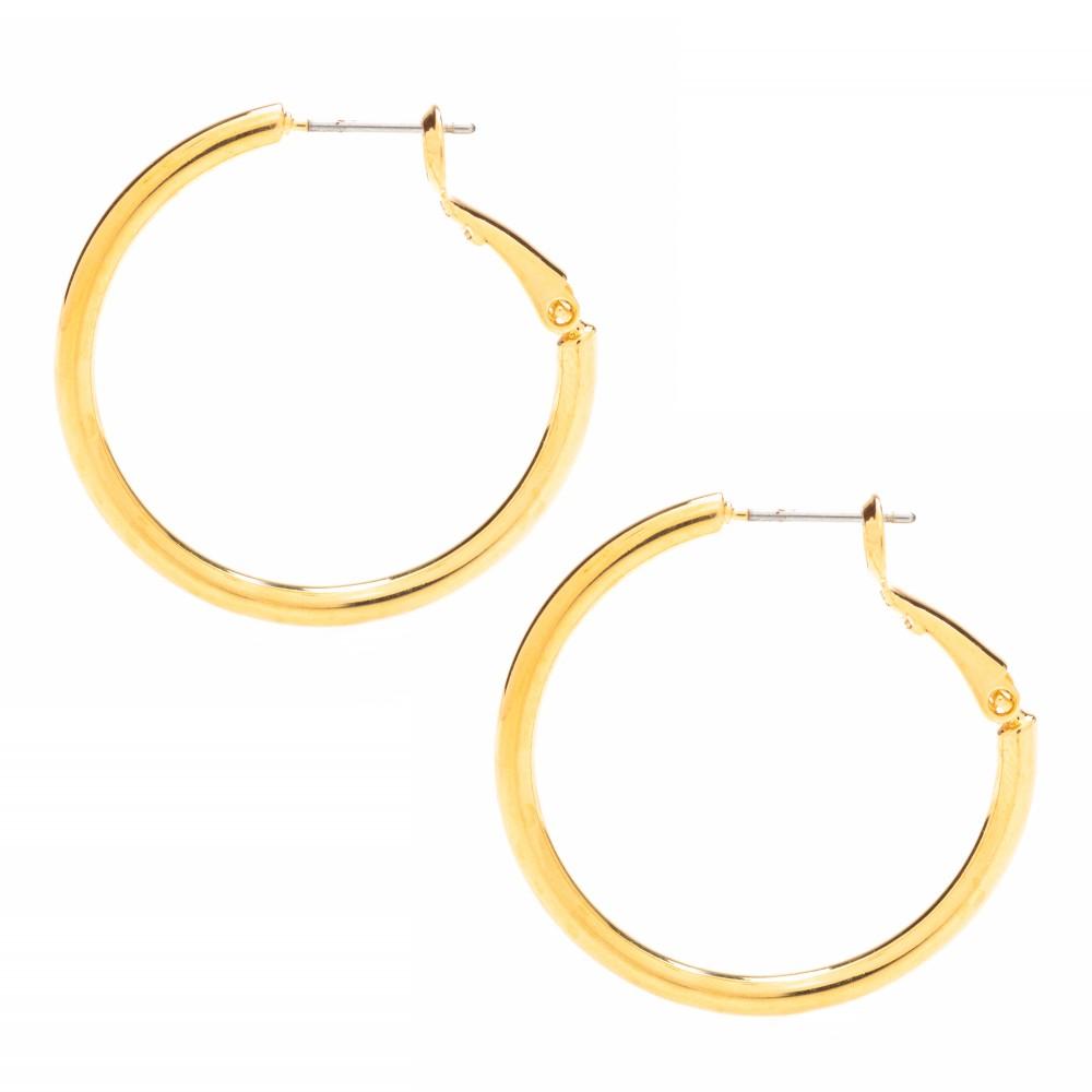 Gold Hoop Earrings, Medium