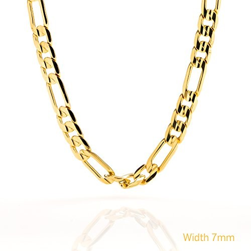 7MM Large Figaro Gold Chain