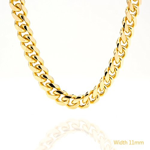 11MM Gold Round Cuban Link Chain