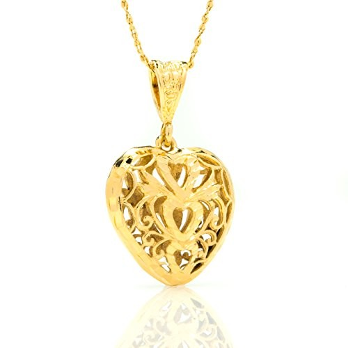 Heart filigree necklace pendant k7 2snb 6h8t heart pendants heart filigree necklace pendant aloadofball Images
