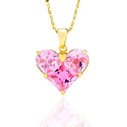 Pink Heart Cubic Zirconia Pendant