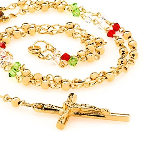 Colorful Gold Rosary