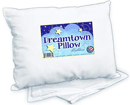 White Kids Toddler Pillow and Pillowcase