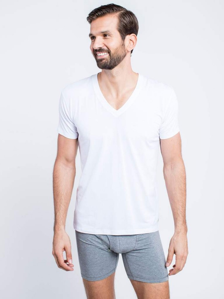 BAM(BARE) Deep V-Neck Undershirt
