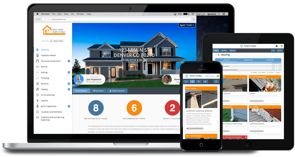 Modern Home Inspection Software - Spectora