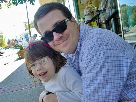 Family ties: Pelphrey has personal experience with autism; in 2007, his then 3-year-old daughter, Frances, was diagnosed with the disorder.