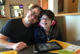 Service with a smile: At the Citrus Diner in Virginia Beach, the staff turns down the music when Kevin Pelphrey and his daughter, Frances, arrive for breakfast. Annie Pelphrey