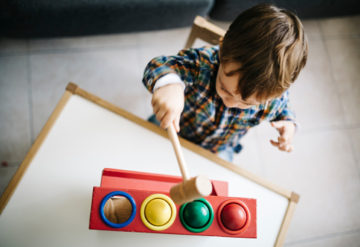Making moves:  Toddlers who have an older sibling with autism are three times more likely to have motor and other delays than those in unaffected families are.
