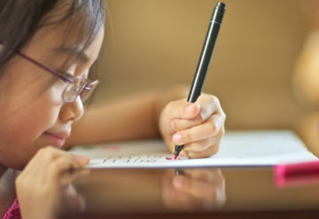 Adept artists: Children with autism who speak few or no words may nonetheless ably perform tasks such as copying a figure or design.Joel Celis / Getty Images