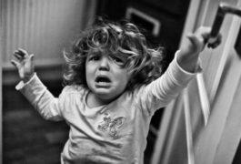 female child crying