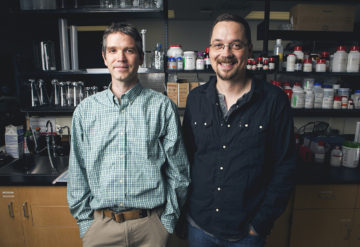 Doctor Jason Lerch and Doctor Jacob Ellegood are photographed in their Toronto lab on October 14, 2016. JENNIFER ROBERTS