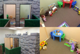 Palace keep: The amount of time a young child spends in a play castle may provide hints about her social motivation.