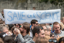 Saving science: Citizens gathered in London in July to protest the passage of Brexit, Britain's decision to leave the European Union.