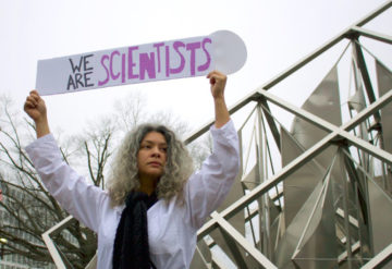 Scientists speak: Researchers are wary of the Trump administration's 'anti-science' positions.Robinson Meyer / The Atlantic