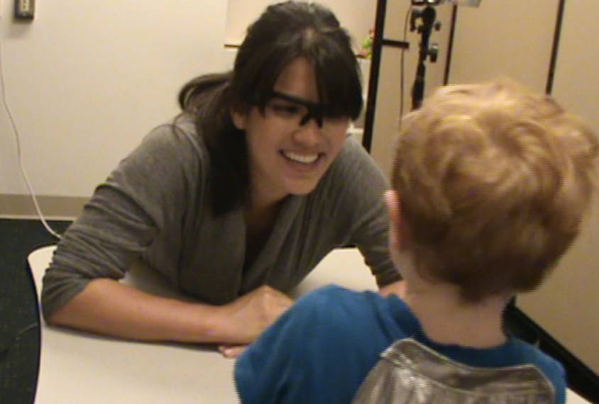 Seeing eye to eye: A camera embedded in a pair of eyeglasses could allow researchers to track a child's gaze outside of a lab or clinic.