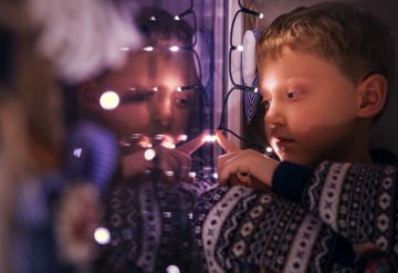 Dazzling display: Children with autism often show unusual sensory behaviors, such as a fascination with lights.Solovyova /  iStock