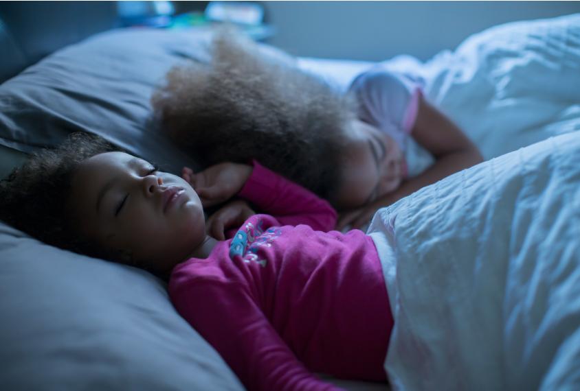 two sisters sleeping