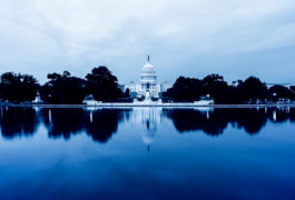 united states capitol against reflection