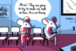 two mice in a waiting room