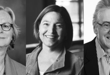 portraits of Cathy Lord, Sally Rogers and David Skuse