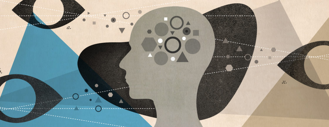 An illustration to accompany an article about With a growing acknowledgement of self-awareness in people with autism, self-report questionnaires are gaining popularity in research and clinical practice.